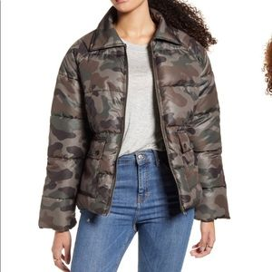 BP camouflage printed Puffer Jacket size XL